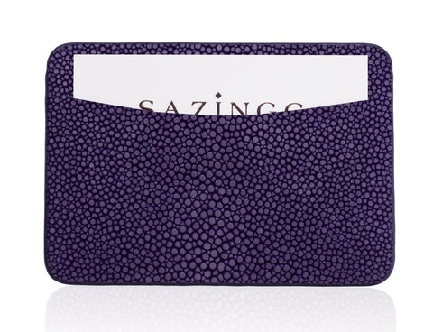 Purple Stingray Leather Credit Card Holder
