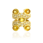 18K Yellow Gold Ring with Yellow Beryl