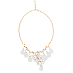 18K Yellow Gold Necklace with Moonstone Cabochon Drops