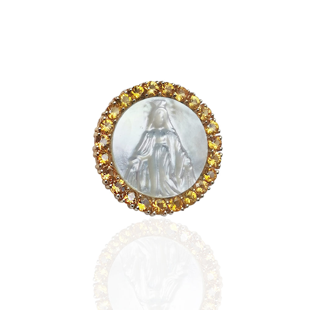 14K Yellow Gold Medal of Our Lady Grace