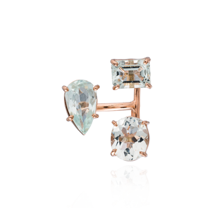 Load image into Gallery viewer, 14K Rose Gold Ring with Aquamarine
