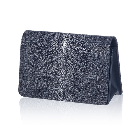 Blue Stingray Leather Clutch