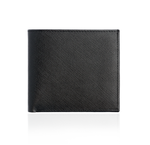Black Textured Leather Wallet with Black Interior