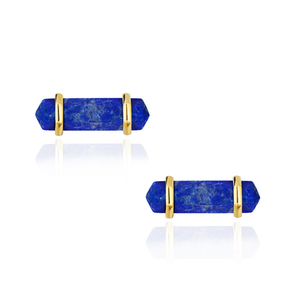 Load image into Gallery viewer, 925 Silver Cufflinks with Lapiz Lazuli