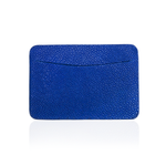 Credit Card Pouch in Blue Stingray Leather