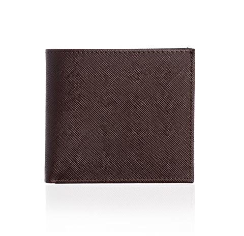Brown Textured Leather Wallet