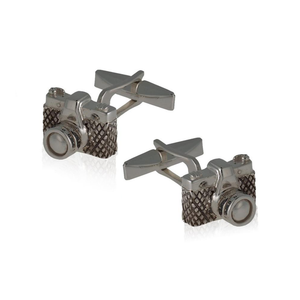 Load image into Gallery viewer, 925 Silver Camera Cufflinks