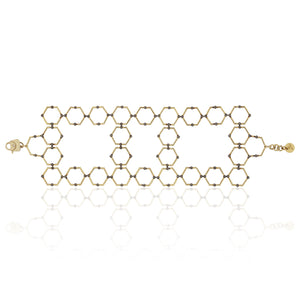 18k Yellow Gold and Black Rhodium Bracelet