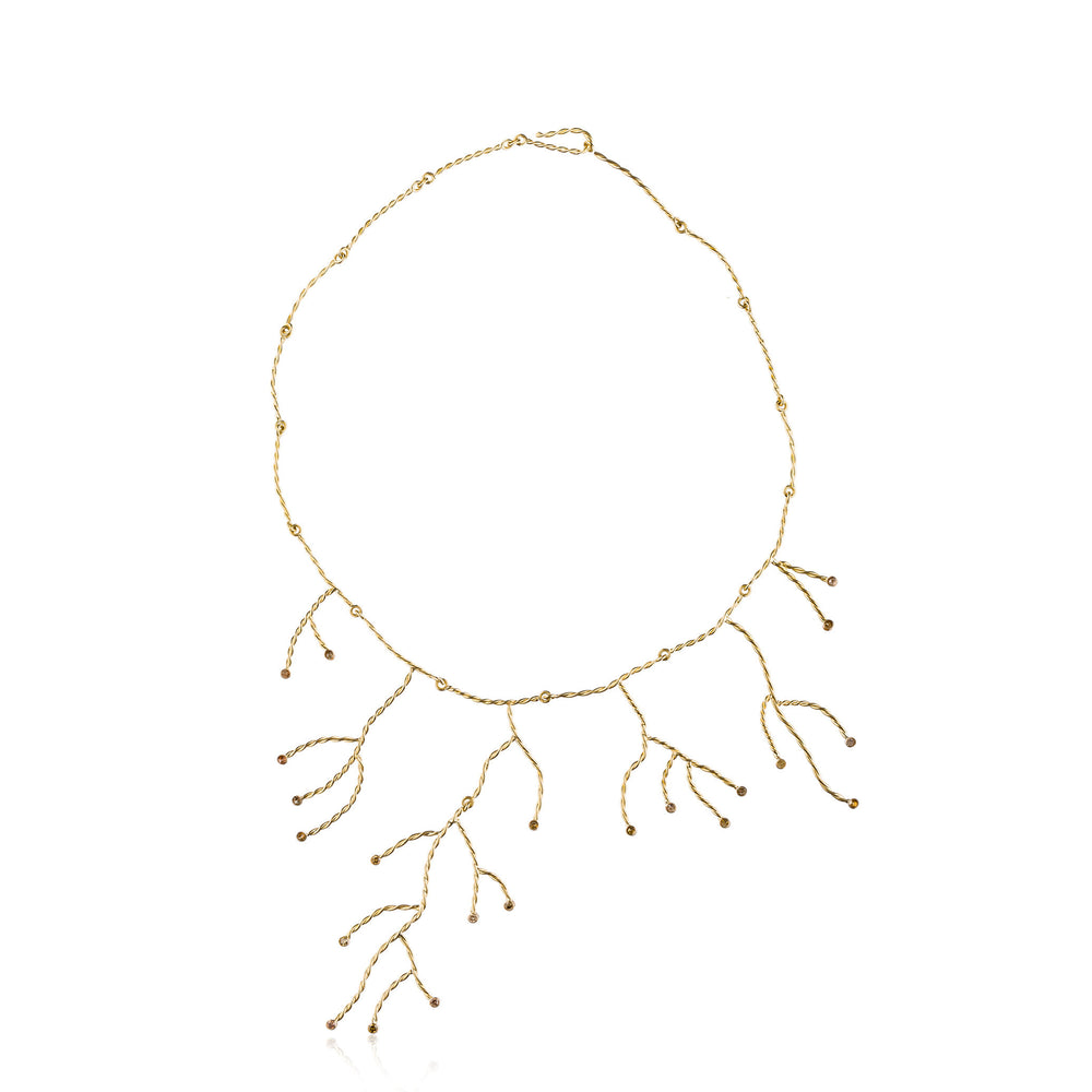 18k Yellow Gold Necklace with Diamonds