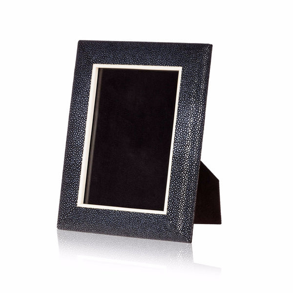 Picture Frame in Black Stingray Leather