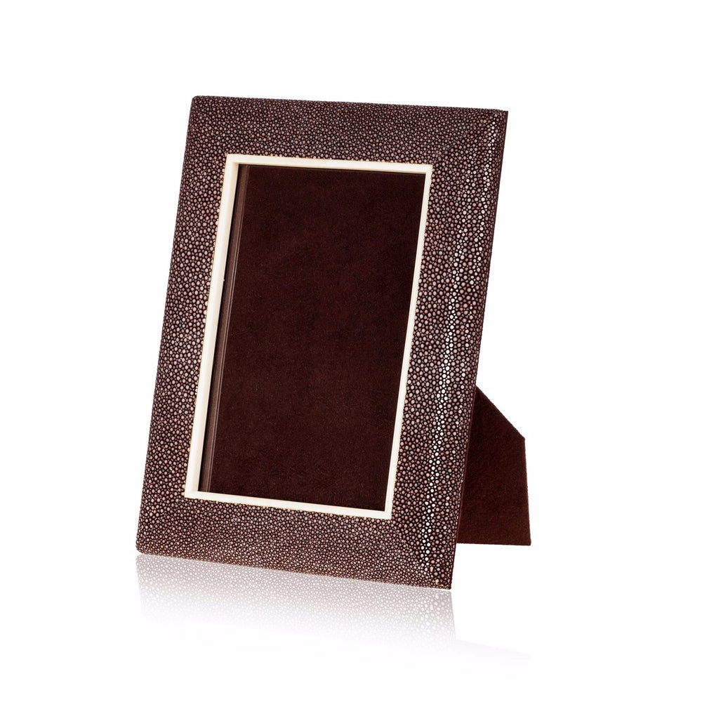 Picture Frame in Brown Stingray Leather 5x7""