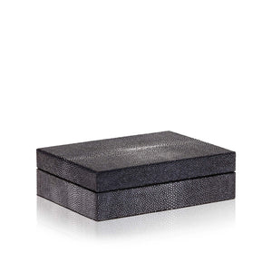 Medium Black Stingray Leather Box