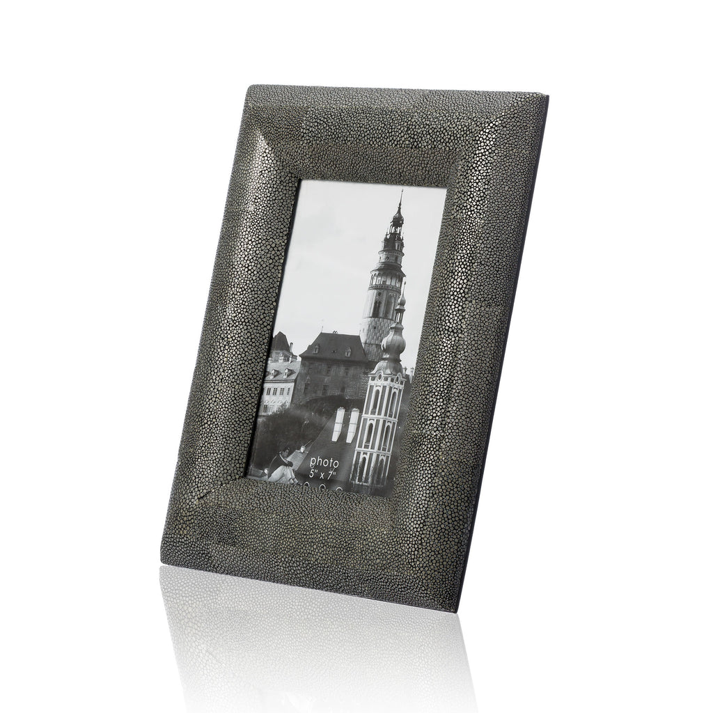 Grey Stingray Leather Picture Frame