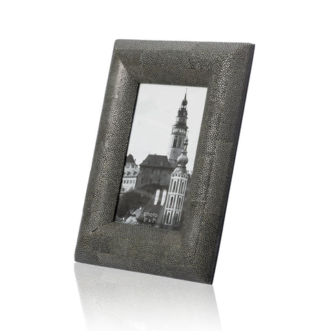 Picture Frame in Grey Stingray Leather