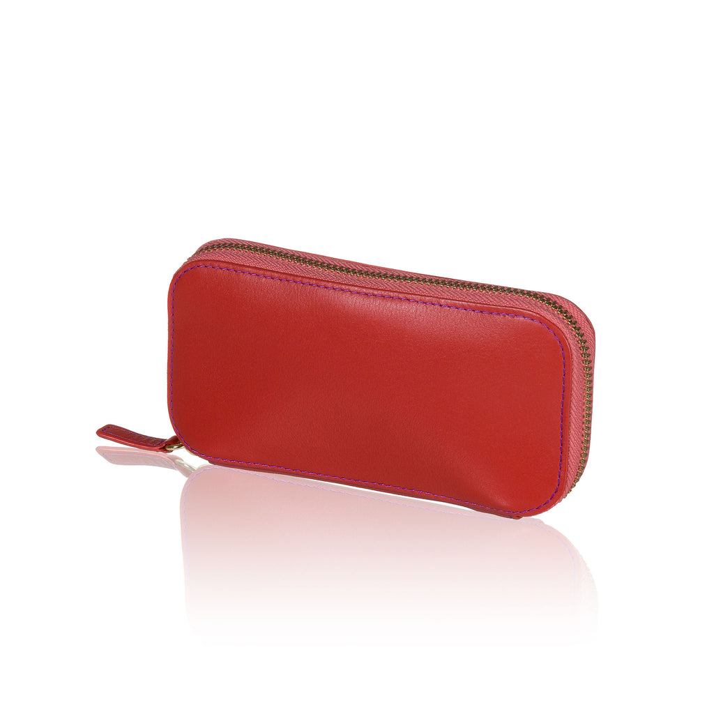 Red Travel Jewelry Pouch