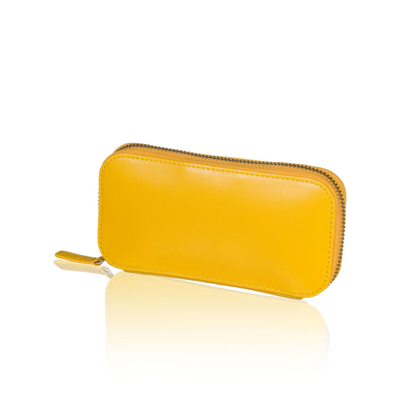 Yellow Travel Jewelry Pouch