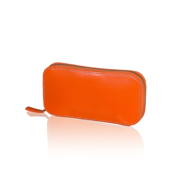 Orange Travel Jewelry Pouch