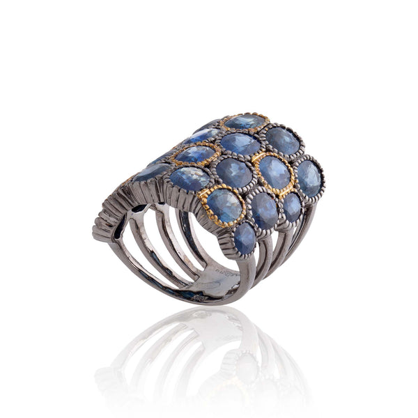 925 Silver Ring with Sapphires