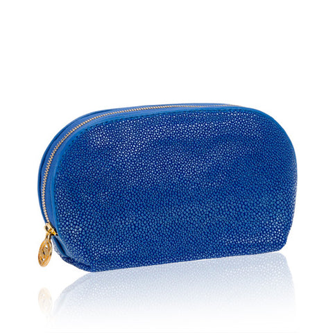 Blue Stingray Leather Cosmetic Case
