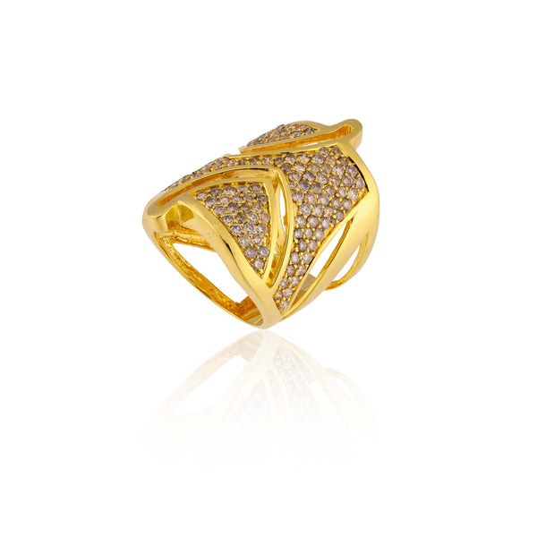 18k Yellow Gold Ring with Cognac Diamonds