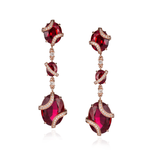 18K Rose Gold Earrings with Ruby