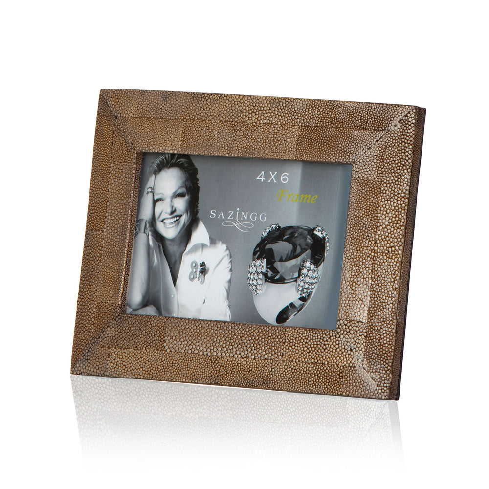 Load image into Gallery viewer, Picture Frame in Brown Stingray Leather
