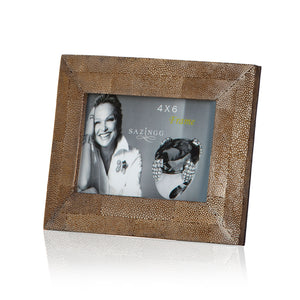 Picture Frame in Brown Stingray Leather