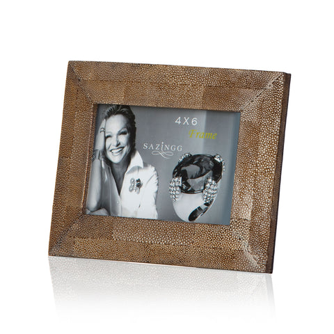 Brown Stingray Leather Picture Frame