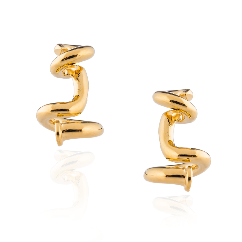 925 Silver Twisted Nail Cufflinks
