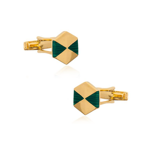 925 Silver Cufflinks with Malachite