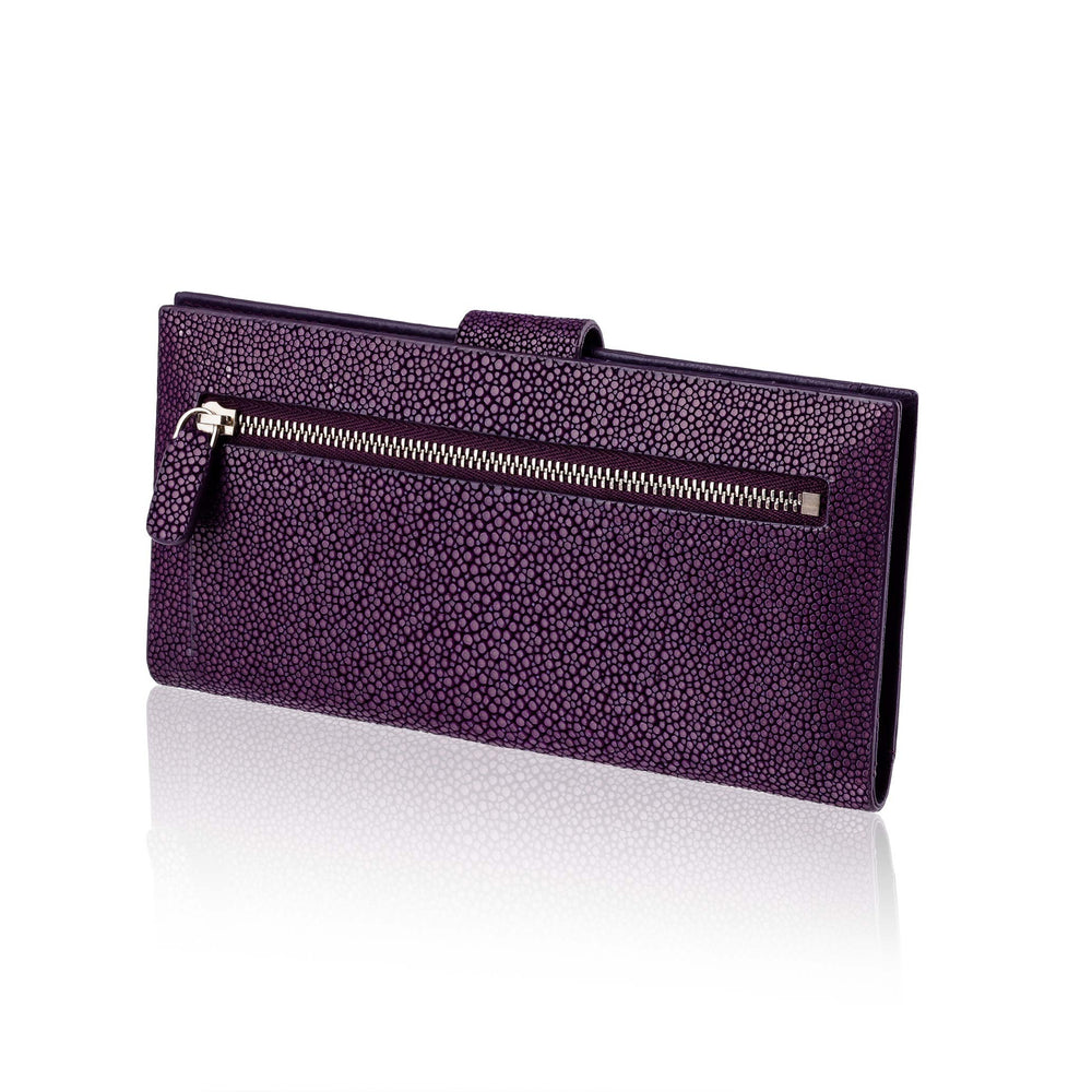Purple  Stingray Leather Wallet