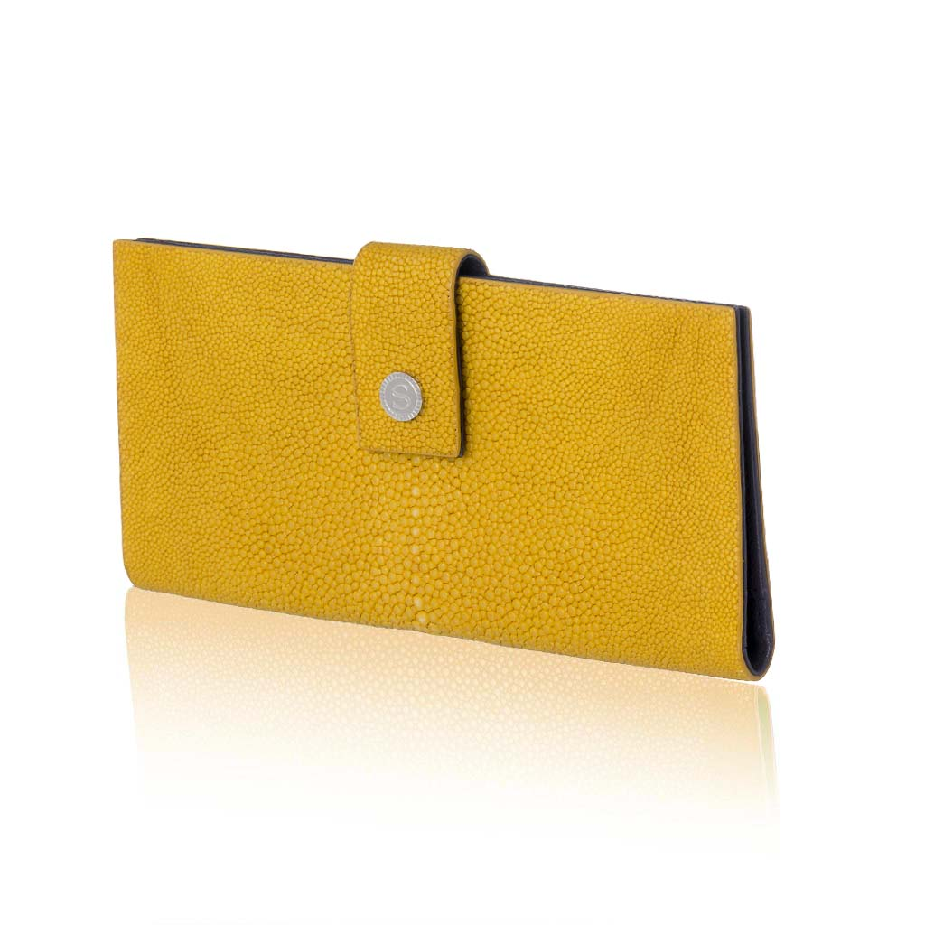 Yellow Stingray Leather  Wallet