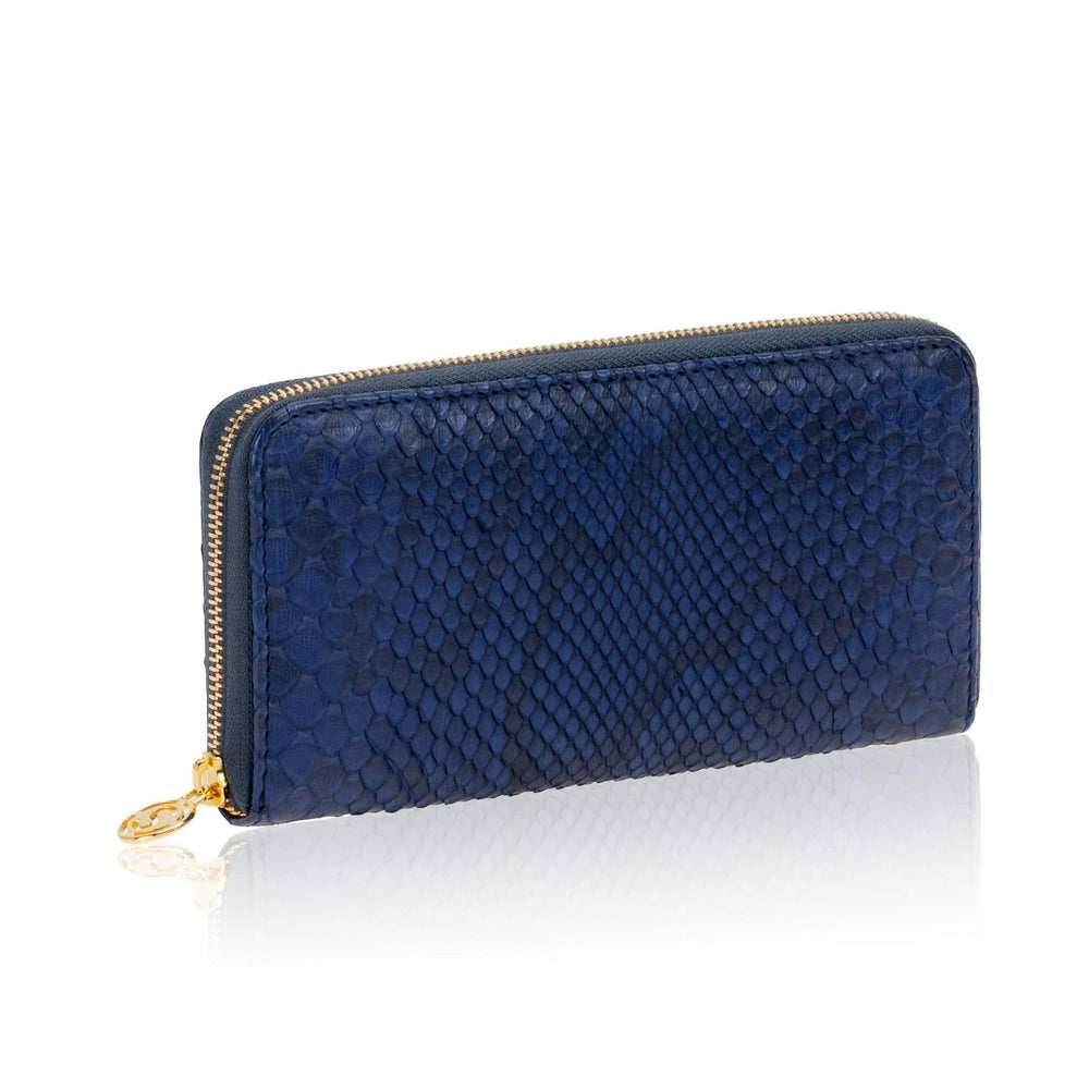 Load image into Gallery viewer, Grey Python Leather Wallet