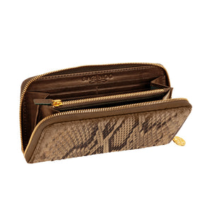 Grey Python Leather Wallet