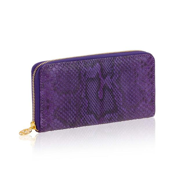 Tan Python Leather Wallet