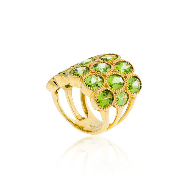 925 Silver Ring with Peridots