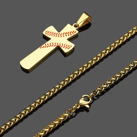 baseball cross pendant