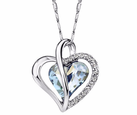 Crystal Love Heart Necklace