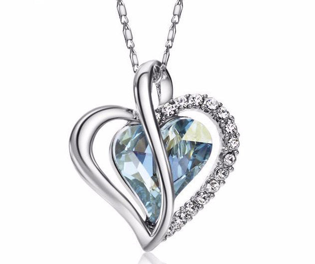 Crystal Love Heart Necklace - Leonne