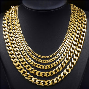 Gold Cuban Link Chain Iced out by Leonne™