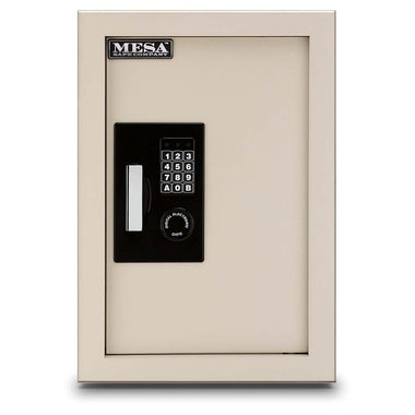 Mesa Adjustable Depth Two Shelf Wall Safe - www.modernvaults.com