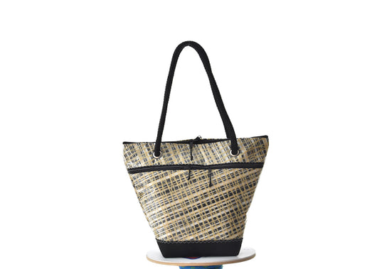Volpetta chic A607 – Borsa shopping in vela riciclata