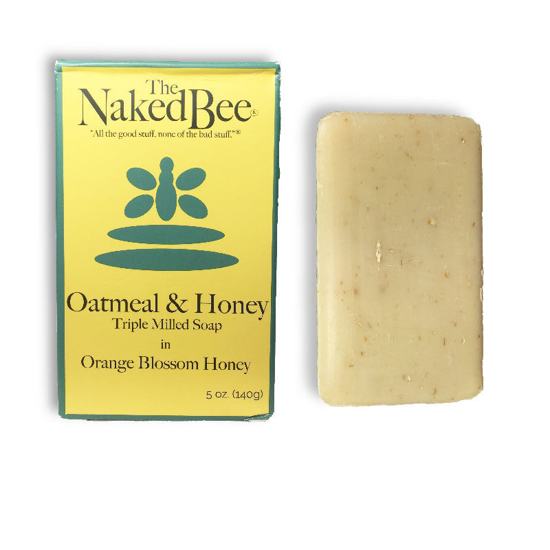 Naked Bee Oatmeal & Honey Triple Milled Soap, 5oz/140g