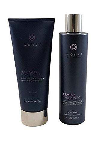 Monat Revive Shampoo and Volume Revitalize Conditioner - Boosts volume, moisture and shine while gently conditioning hair.
