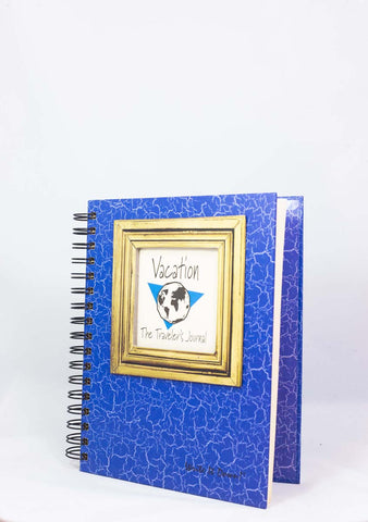 Journals Unlimited Vacation Globe Journal Blue Hard Cover
