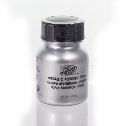 Mehron Metallic Powder Silver 0.50 oz