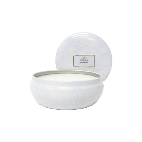 Voluspa Japonica 3 Wick in Decor Tin -  Mokara  12oz
