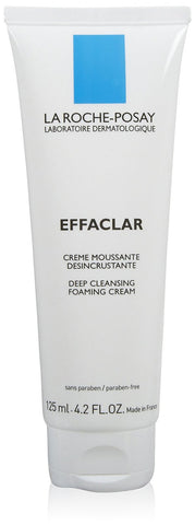 La Roche-Posay Effaclar Deep Cleansing Foaming Cream, 4.2 oz (125ml)