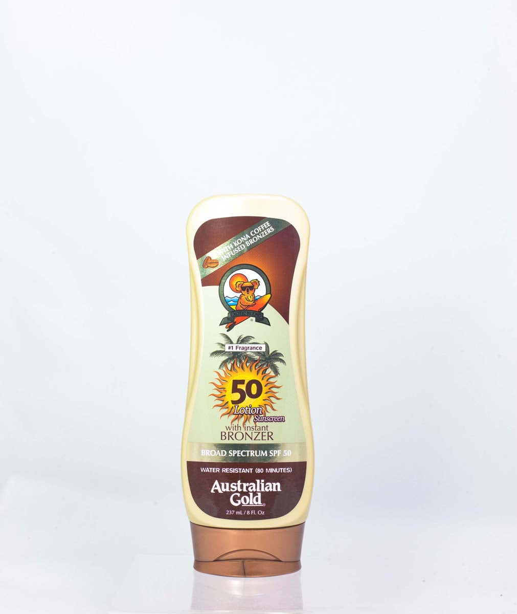 Australian Gold Spf 50 Moisture Max Sunscreen Lotion With Kona Bronzers 8 oz