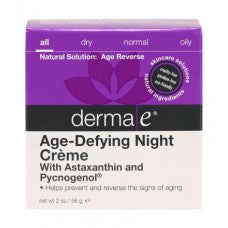 Derma E Age-Defying Night Creme w Astaxanthin and Pycnogenol 2oz